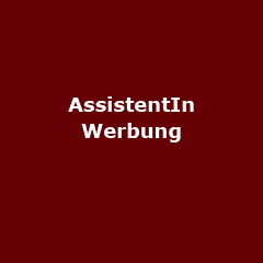 Internationale AssistentIn Werbung