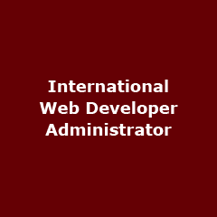 International Web Developer – Administrator