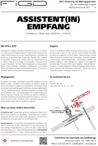 figd assistentin empfang info 203x300 - AssistentIn Empfang