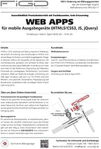 FiGD special apps kurs 300 - Entwicklung von Web Apps – Special Apps